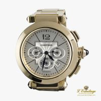 CARTIER<BR>PASHA CHRONO 42MM YELOW GOLD. · ref.: 2861