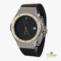 HUBLOT<BR>CLASSIC STEEL AND GOLD MEN SIZE