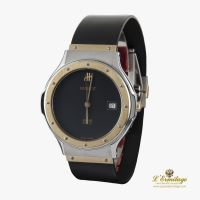 HUBLOT<BR>CLASSIC STEEL AND GOLD MEN SIZE.