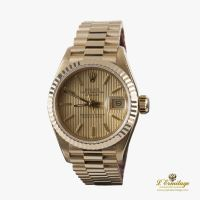 ROLEX<BR>OYSTER PERPETUAL DATEJUST YELLOW GOLD ...