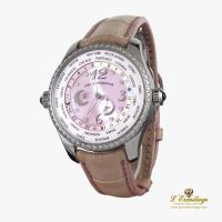 GIRARD PERREGAUX<BR>WORLD TIME ACERO Y DIAMANTES AUTOMATIC...