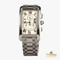 CARTIER<BR>TANK AMERICAINE ORO BLANCO CHRONOREFLE...