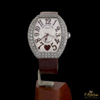 FRANCK MULLER<BR>HEART WHITE GOLD DIAMONDS.