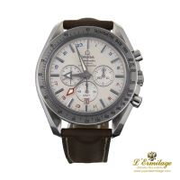 OMEGA<BR>SPEEDMASTER BROAD ARROW GMT CO-AXIAL 4...